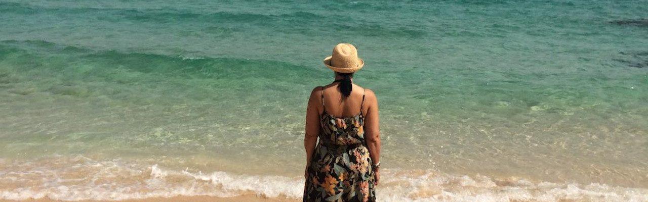 life coaching woman gazing out to sea